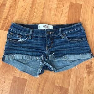 HOLLISTER cut off blue jean shorts Size 0 W 24